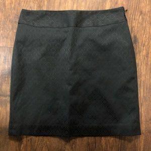 Charcoal Color - Damask Print mini Skirt B36